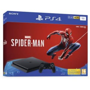 Sony Console PS4 Slim 1 To Noir + Marvel Spider-Man