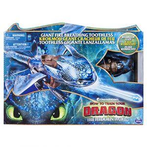Spin Master Figurine géante - Dragons 3 - Krokmou cracheur de flammes