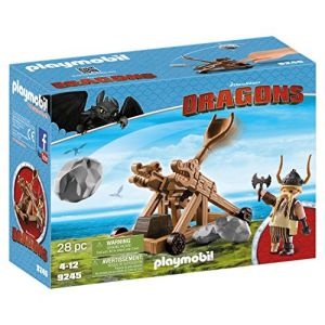 Playmobil 9245 Dragons - Gueulfor avec Catapulte