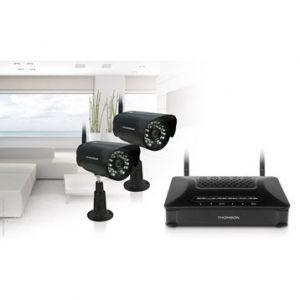 Thomson Dvr-421b - Kit de vidéosurveillance connecté sans fil intérieur/extérieur