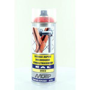 Motip Bombe de peinture orange sanguine brillant acrylique RAL 2002 400 ml M