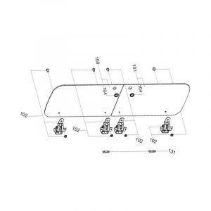 Dometic Couvercle Verre Cote Plaque Repere 100 1053125884 Pour TABLE DE CUISSON