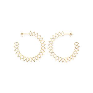Rosefield Boucles d'oreilles JSPHG-J063 - Collection IGGY Anneaux Spike doré jaune Laiton