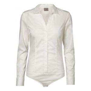Vero Moda VMLADY L/S G-STRING SHIRT NOOS - Blouse - Femme, Blanc (Weiß Snow White) FR: 36 (Taille fabricant: 34)
