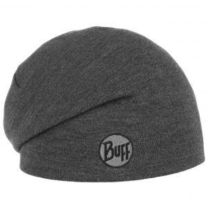 Buff Heavy Merino Wool Hat Solid Grey One Size Bonnets