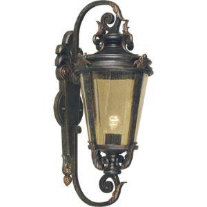 Elstead Applique extérieure Baltimore grande en bronze et verre ambre