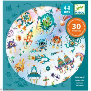 Djeco Stickers holographique - Rétro toys - 30 pcs