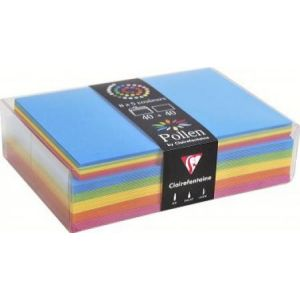 Clairefontaine 20812C - Coffret de 40 enveloppes 114x162 + 40 cartes 110x155 (5 couleurs Eté)