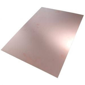 Aerzetix Plaque planche feuille en cuivre pour circuit imprimé 420/297/0.6mm résine epoxy fibre de verre
