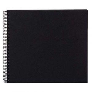 Goldbuch album à spirale Linum - 34x30cm - Noir