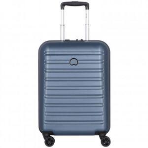 Delsey Valise rigide trolley cabine slim Segur 2.0 4R 55 cm Bleu