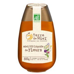 Terre de miel Squeezer miel toutes fleurs bio UE 500g