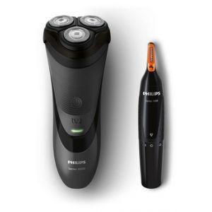 Philips Rasoir électrique S3110/41 et tondeuse oreilles/nez