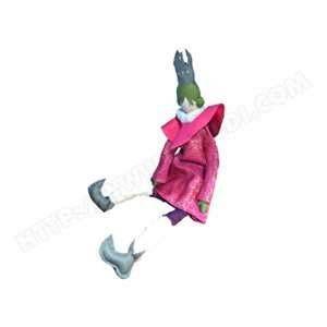 L'oiseau bateau Poupée de chiffon Les Cocozaks : Reine olive et rose