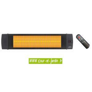Ufo Black Line 2500 Watts - Chauffage infrarouge avec télécommandé