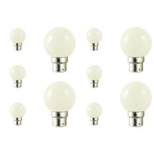 Vision-El Lot de 10 ampoules led B22 pour guirlande lumineuse (7 couleurs d'éclairage) - Couleur eclairage - Blanc froid