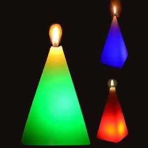 Zen'Arôme Pyramide - Bougie en cire à LED