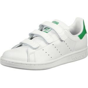 Adidas Stan Smith, Sneakers Basses garçon, Blanc (Running White/Running White/Fairway), 36 2/3 EU (UK Child 4 Enfant UK)