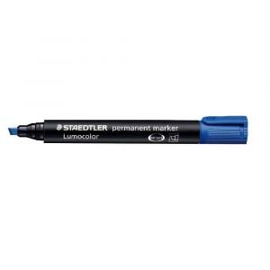 Staedtler Marqueur Lumocolor 350 encre bleue pointe biseau