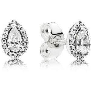 Pandora Boucles d'Oreilles 296252CZ - Boucles d'oreilles Gouttelettes Géométriques Femme