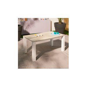 Squareline Jensia - Table de jardin rectangulaire en aluminium et composite 160 x 90 x 74 cm