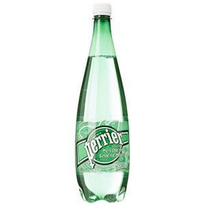 Perrier Eau gazeuse minérale naturelle aromatisée à la menthe verte - La bouteille de 1L