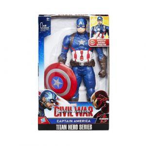 Hasbro Série TITAN Héros Marvel Captain America électronique 30 cm