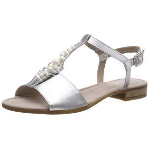 Gabor Shoes Comfort Sport, Sandales Bride Cheville Femme, Multicolore (Silber), 38.5 EU