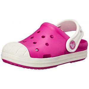 Crocs Bump It Clog Kids, Mixte Enfant Sabots, Rose (Candy Pink/Oyster), 29-30 EU