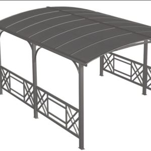 dcb garden pergola rectangulaire avec toit rigide en alu acier 5 x 3 63 x 2 45 cm comparer. Black Bedroom Furniture Sets. Home Design Ideas