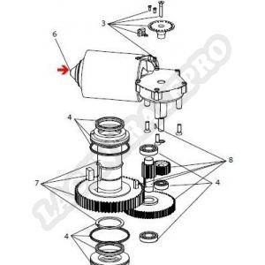 Procopi 32270121 - Moto-réducteur Aquamat 3001 usiné 70 Nm 24 Volts