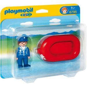 Playmobil 6795 - 1.2.3 : Figurine avec canot