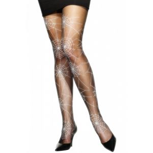 Collants noirs toile d%u2019araignée femme Halloween