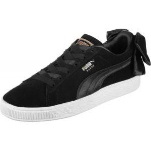 Puma Suede Bow Wn's, Sneakers Basses Femme, Noir Black Black, 38.5 EU