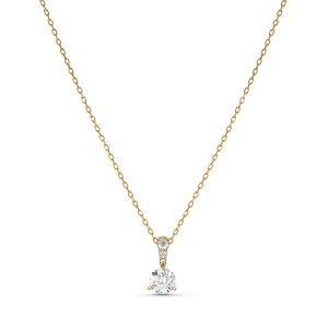 Swarovski Collier 5511557 - Collier métal rhodié or cristal blanc Femme