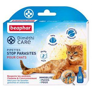 Beaphar DiméthiCare - Pipettes stop parasites pour chat 6 pipettes