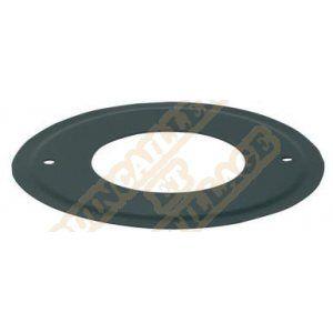 Ten Rosace émail noir mat diamètre 80mm 343749
