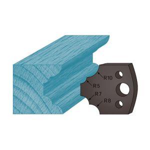 Diamwood Platinum Jeu de 2 contre-fers profilés Ht. 38 x 4 mm quart de rond multiples A22 pour porte-outils de toupie