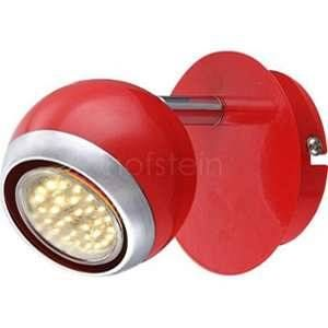 Globo Applique luminaire mural LED 3W mur lampe spot rétro boule mobile chrome rouge 57885-1 OMAN
