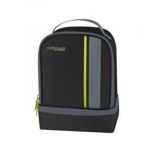 THERMOCAFE BY THERMOS 158906 Sac isotherme lunch kit 2 compartiments noir/lime neo