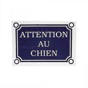 """Zolux Plaque """"Attention au chien"""" (24 x 11 cm)"""