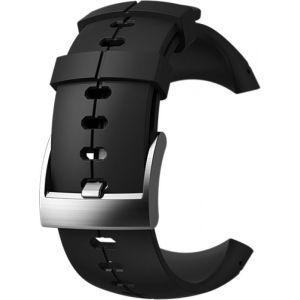 Suunto Bracelet de Remplacement Original pour Toutes les Montres Sparten Ultra, Silicone, Longueur: 24,5 cm, Largeur: 25 mm, Noir/Argent, Cheville de Montage Incluse, SS022689000
