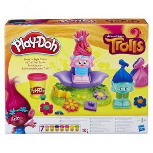 Hasbro Play-Doh Trolls Le coiffeur