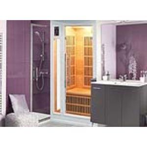 Image de France Sauna Soleil Blanc 2 - Sauna cabine à infrarouge pour 2 personnes