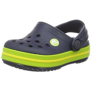 Crocs Crocband Clog Kids, Mixte Enfant Sabots, Bleu (Navy/Volt Green), 24-25 EU