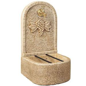 Delta YF053 - Fontaine de jardin Aux Raisins en pierre reconstituée