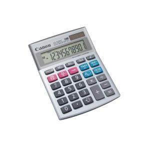 Canon LS-123TC - Mini-calculatrice de bureau à 12 chiffres avec large écran LCD et fonctions polyvalentes