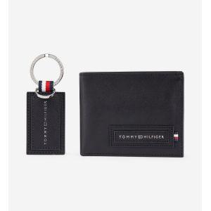 Tommy Hilfiger Coffret portefeuille et porte-clés cuir Noir