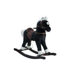 Cheval noir à bascule