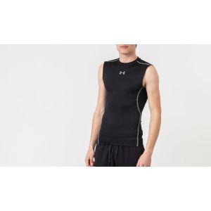 Under Armour Armour Hg T-Shirt de compression sans manches Homme Noir/Acier FR : XL (Taille Fabricant : XL)